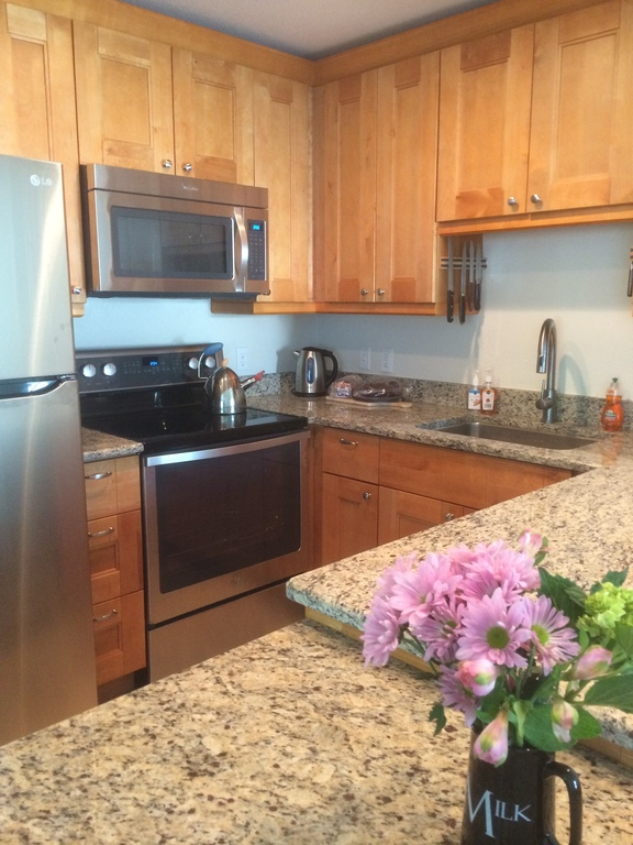 All new kitchen with stainless steel appliances