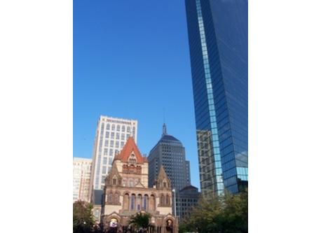 Copley Plaza-- a 20 minute walk from our condo.