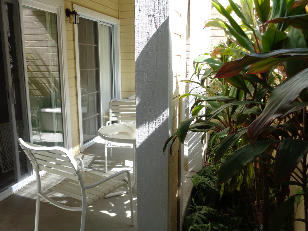 View of the lanai, private sitting area