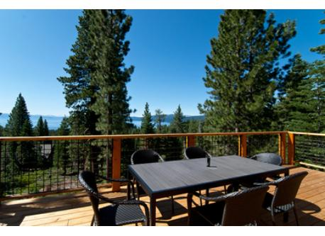 Enjoy abundant sunshine and the panoramic view while relaxing on the deck.
