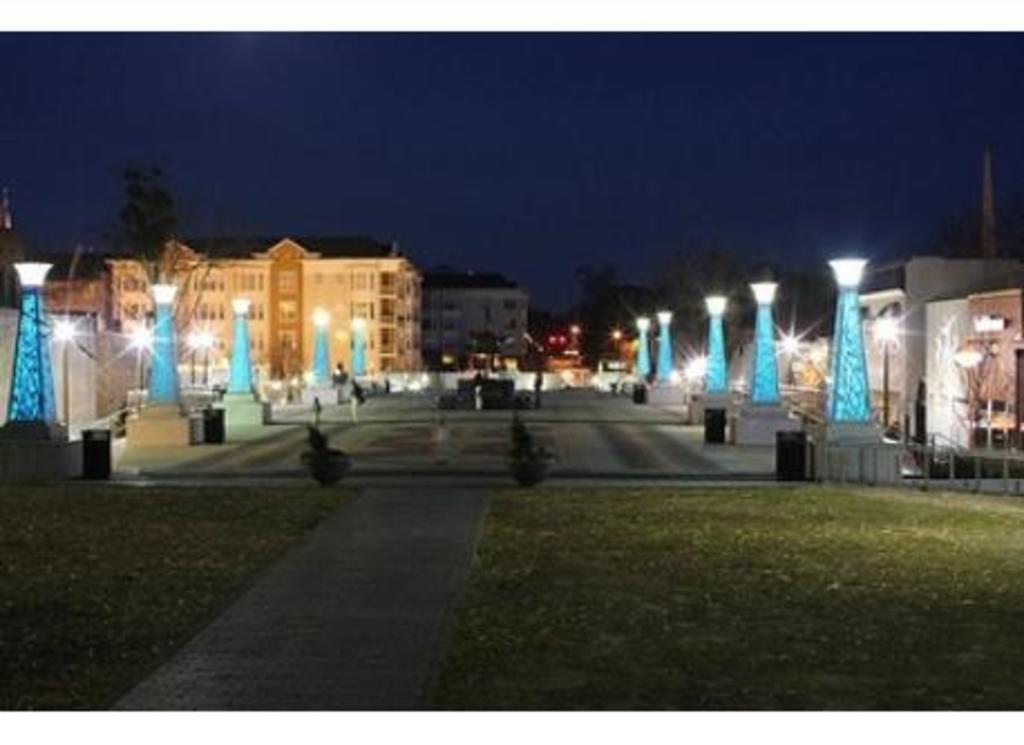 Decatur Square at night