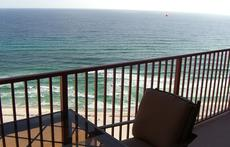 Florida condo balcony on Gulf of Mexico