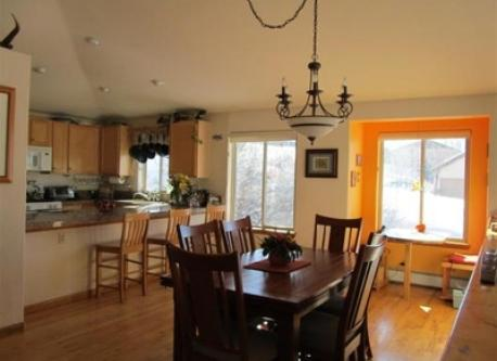 our bright and sunny dining and kitchen area