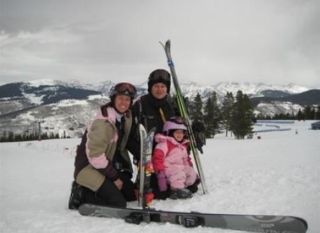 old picture of us enjoying skiing Vail