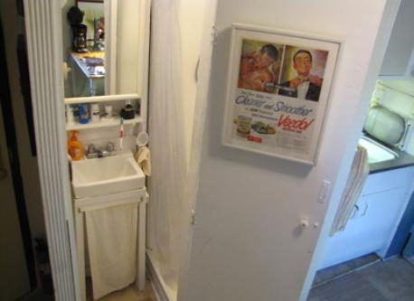 shower cabinet in kitchen