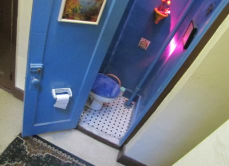 Toilet (WC) down the hall, locked and private