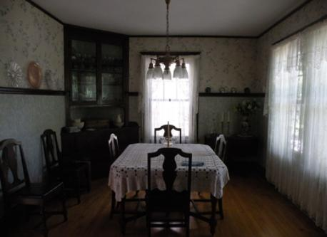 "Dining room in the ""old house"" area"