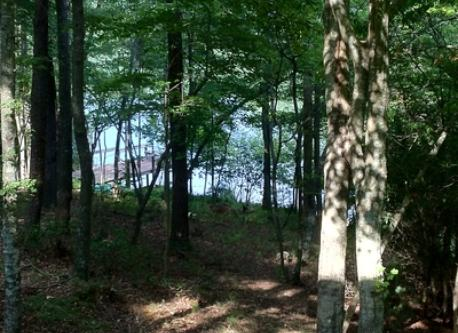 View of the 17 acre lake and dock