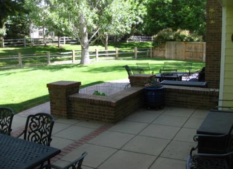 Two backyard patios