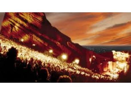 Red Rocks Amphitheater on the west side of town