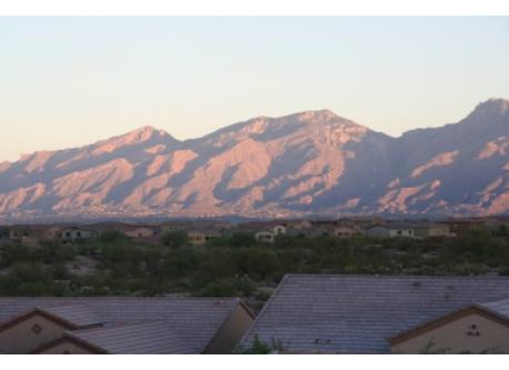Catalina Mountains from our backyard