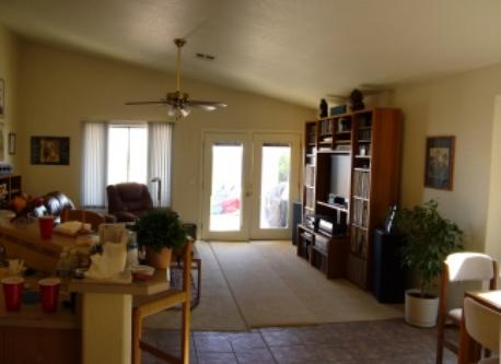 Family room & kitchen area