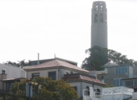 Coit Tower from our roof deck
