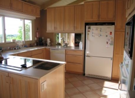 Kitchen w/Magnetic Induction Cook Top and Santa Catalina Island view