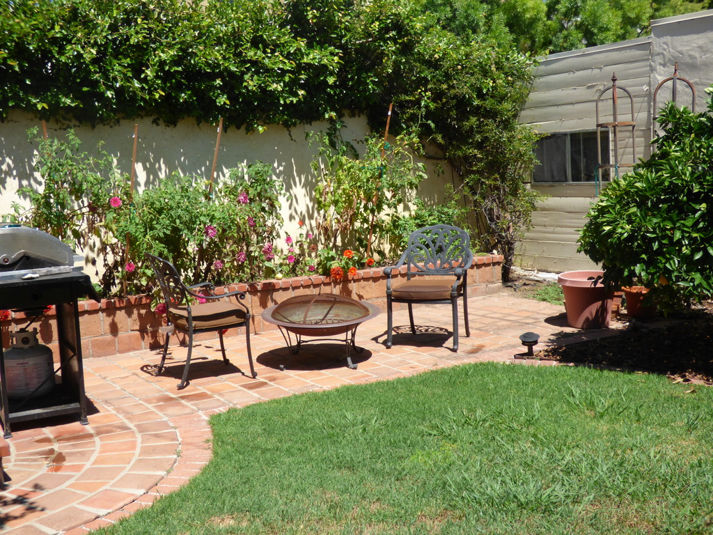 Garden. View 4 with firepit.