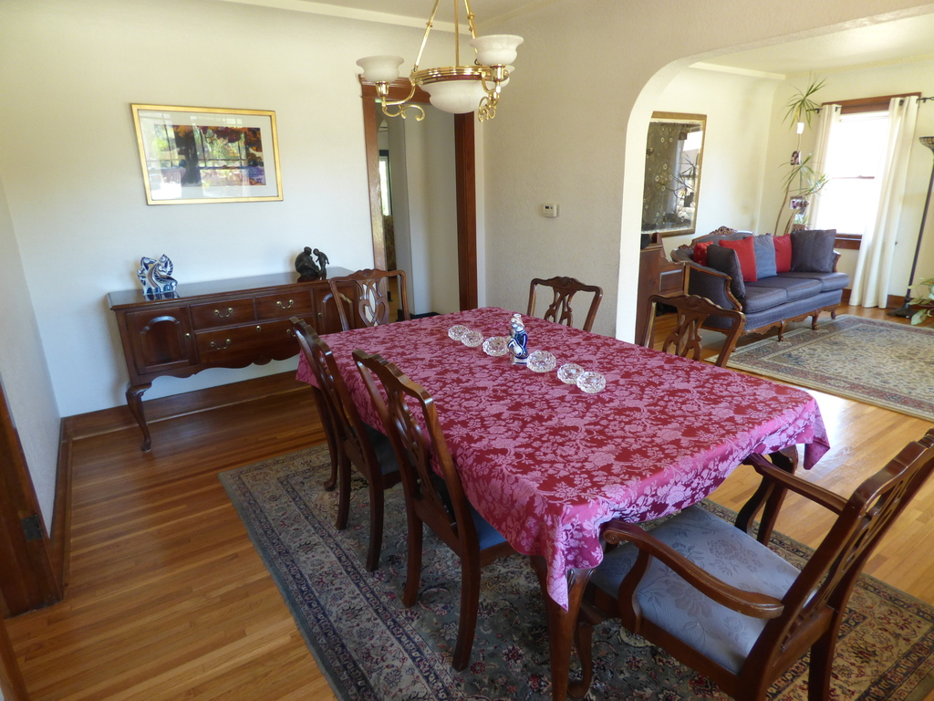 Downstairs.  Dining room View 1