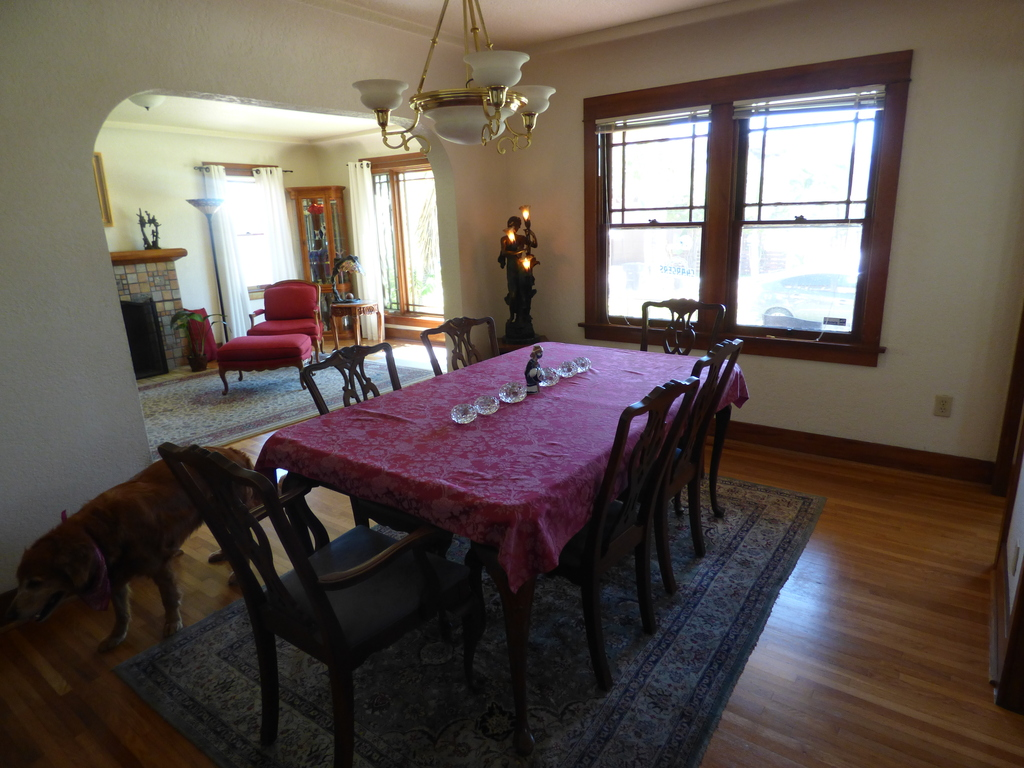 Downstairs. Dining room View 2