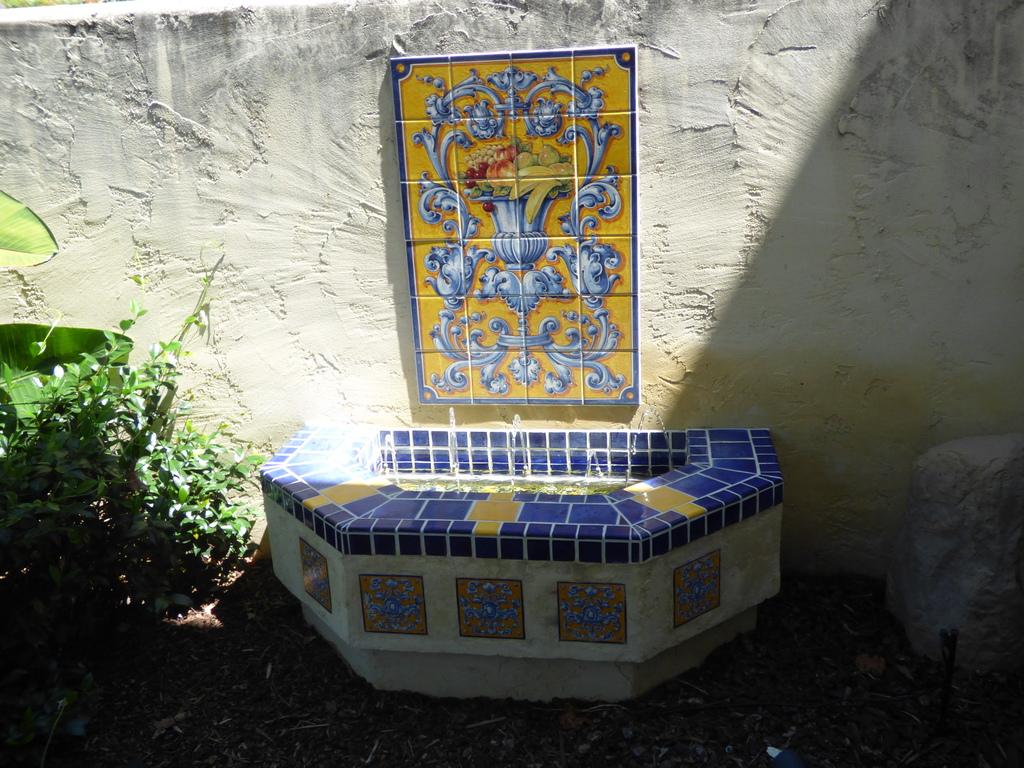 Garden.  Fountain.