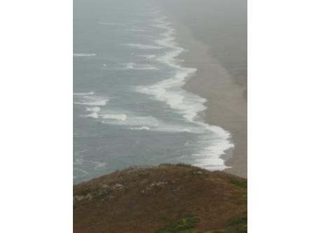 The beach at Pt. Reyes as seen from near the lighthouse.