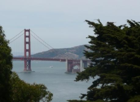 Golden Gate Bridge from Lincoln Park, SF