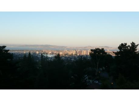 View from our deck toward San Francisco.