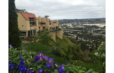 Our townhouse sits high above the valley.  The Pacific Ocean is on the horizon, 4 miles away.
