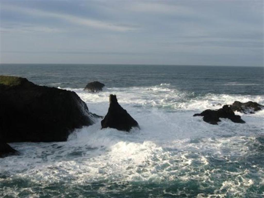 Off shore rocks creat a constant show