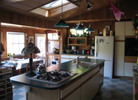 kitchen at cabin
