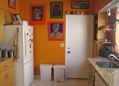 kitchen of Berkeley flat