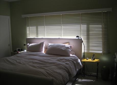 king size bed in Berkeley flat