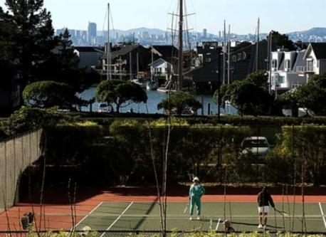 tennis at our home in Pt. Richmond,  there's also a workout room