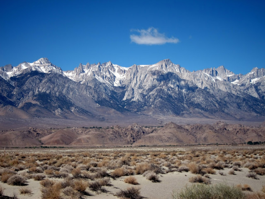 Eastern Sierra Nevada mountains, about 4 hours from our house