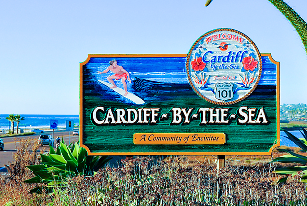 Cardiiff by the Sea Coast Sign