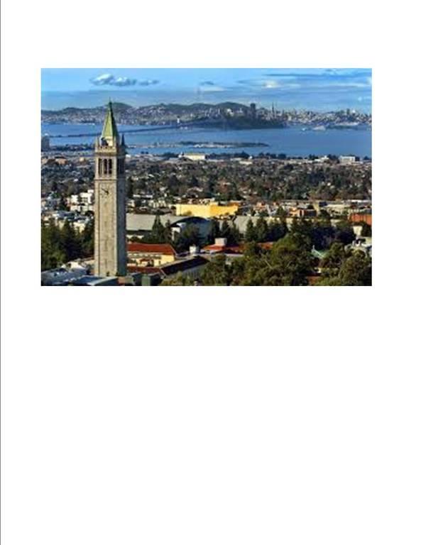 UC Berkeley Campanille Tower, Downtown Berkeley, San Francisco across Bay