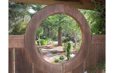 Moon Gate to rear garden