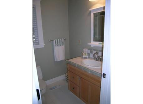 Attached bathroom for guest bedroom