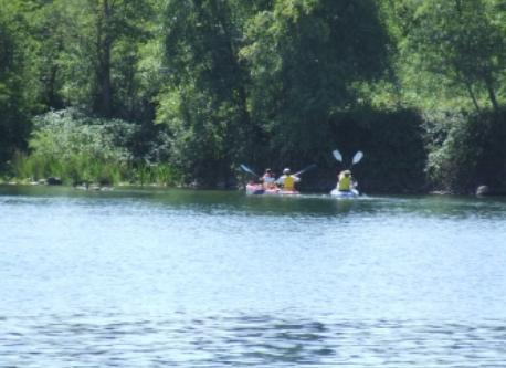 Kayaking on Lake Natoma