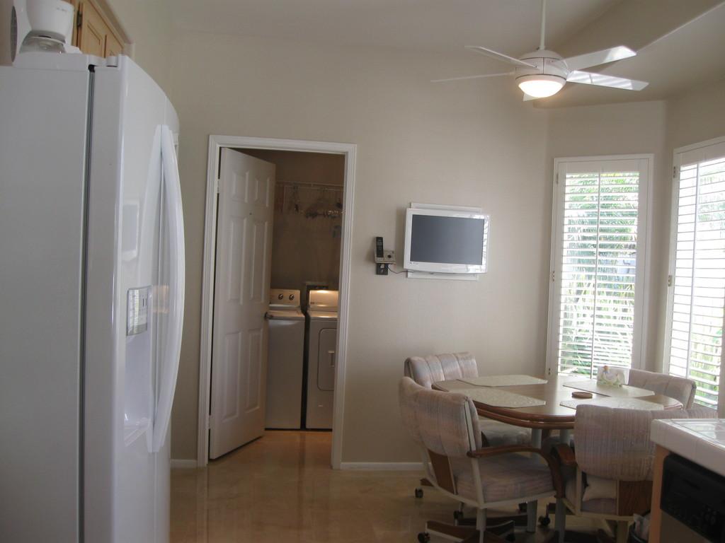 breakfast nook & laundry-room