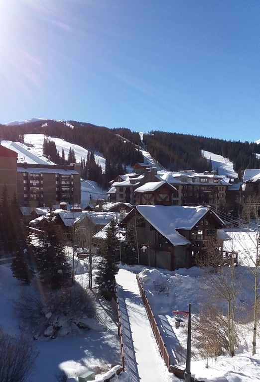 Copper Mountain Village after the snow storm