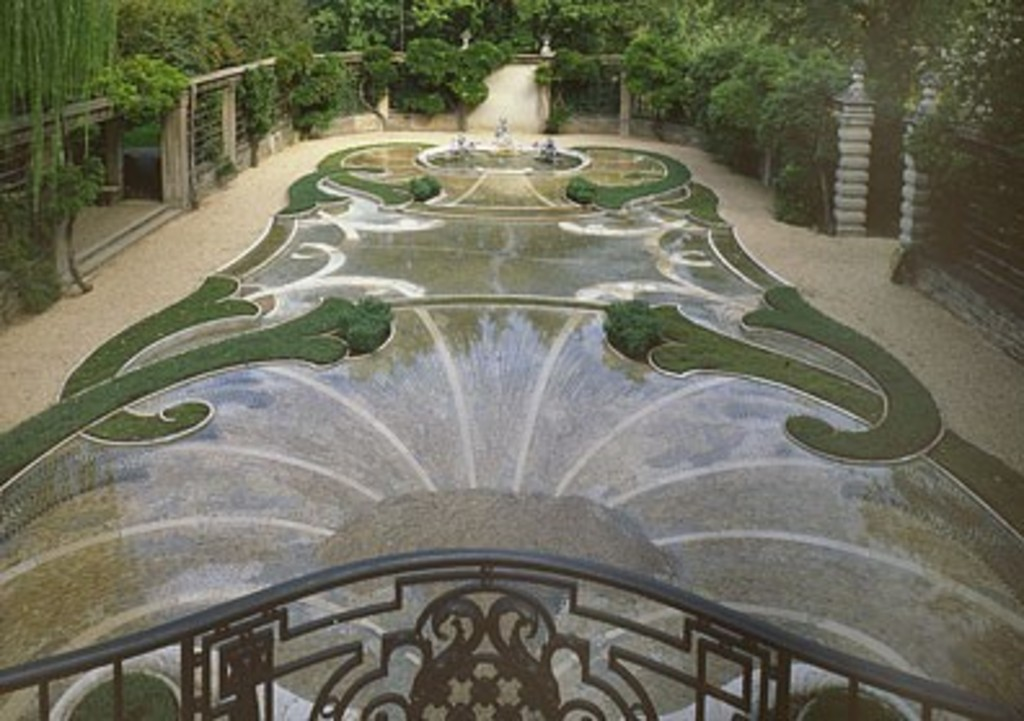 One of the many gardens at Dumbarton Oaks