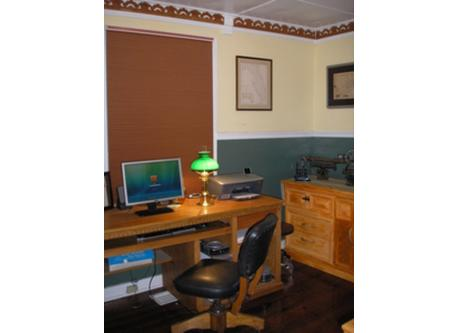 The office with High Speed Internet.