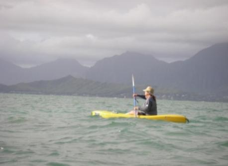 Kayaking at the North Shore on Oahu