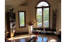 Living room filled with sunshine throughout the day.