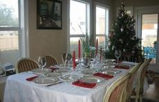 Dining Room at Christmas Time