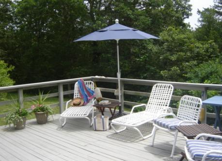 Expansive Sunny Deck
