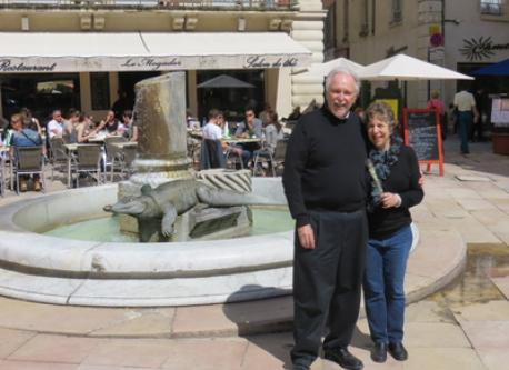 Jerry and Roberta in Nimes, France