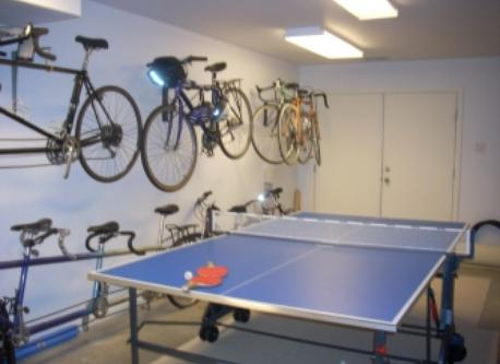 Bike and ping pong room (includes four singles, a tandem, and a triple)