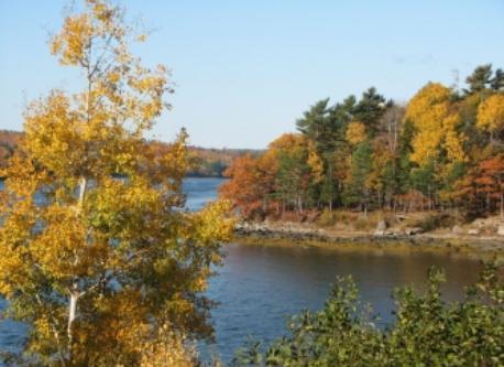 Fall colors of coastal Maine