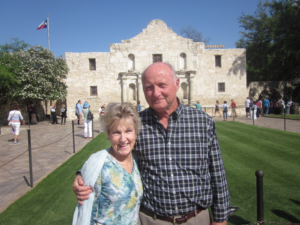 John and 'Verne  at the Alamo in Texas