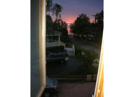 Sunset view from upstairs bdrm.